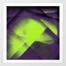 Purple Color Package Art Print