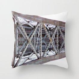 Bridge over the River Douro Throw Pillow