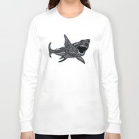 jaws Long Sleeve T-shirts featuring Jaws by Lauren Moore