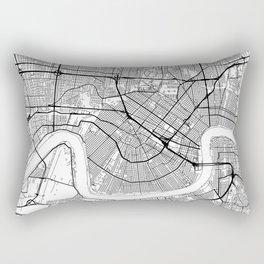 New Orleans Map White Rectangular Pillow