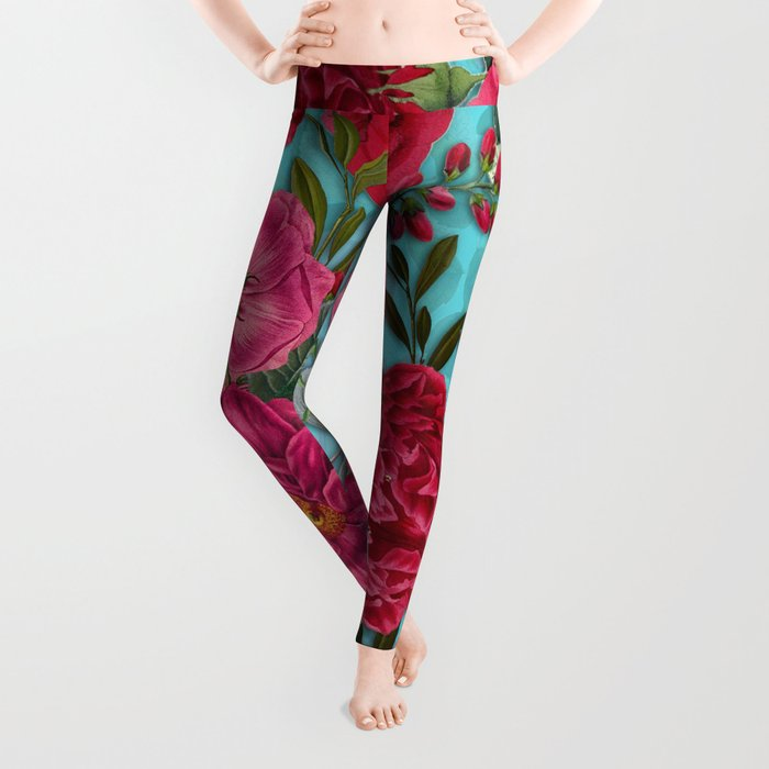 Vintage & Shabby Chic - Summer Tropical Garden I Leggings
