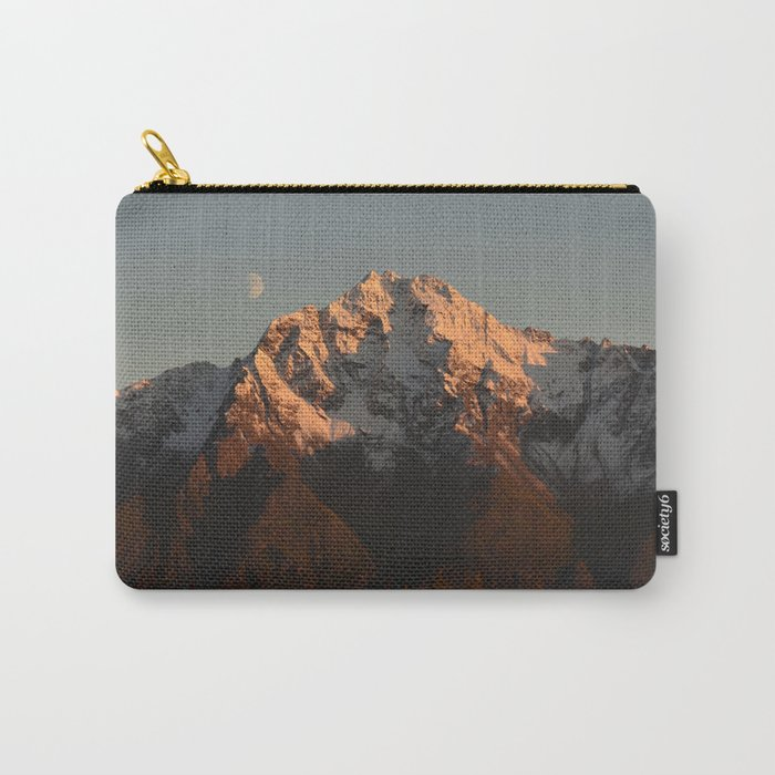 Moon Over Pioneer Peak Carry-All Pouch