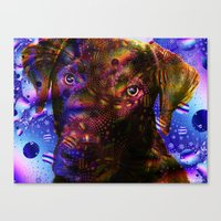 lab Canvas Prints featuring Chocolate Lab by Roger Wedegis