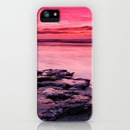 Pink colored sky iPhone Case