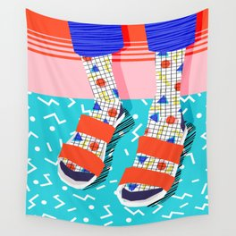 No Doi - memphis throwback retro classic style fashion 1980s 80s hipster shoes socks urban trendy Wall Tapestry