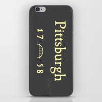 pittsburgh iPhone & iPod Skins featuring Pittsburgh by Nick Signet