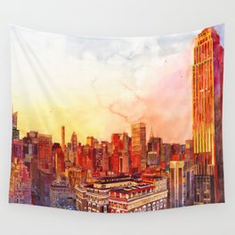 Sunshine in NYC Wall Tapestry