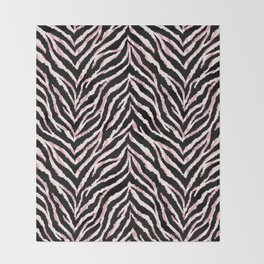 Zebra fur texture print Throw Blanket