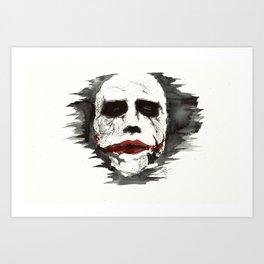 Joker Watercolor Artwork Art Print