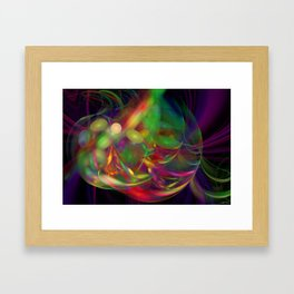 Jelly Bean Swirl Framed Art Print