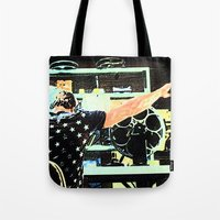 tyler durden Tote Bags featuring What Would Tyler Durden Do by Jay Joseph