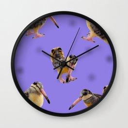 Purple Polka-Dotted Peents Wall Clock