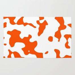 Large Spots - White and Dark Orange Rug