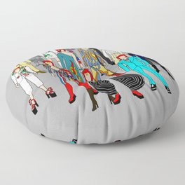 Gray Heroes Group Fashion Outfits Floor Pillow