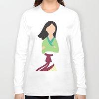 mulan Long Sleeve T-shirts featuring Mulan by Adrian Mentus