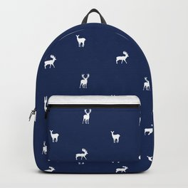 NAVY DEER PATTERN Backpack