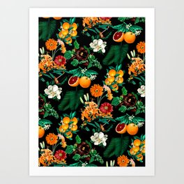 028be2ac250562 Fruit and Floral Pattern Art Print