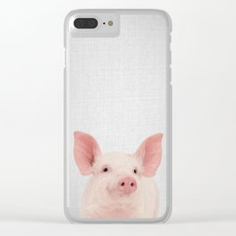 Pig - Colorful Clear iPhone Case