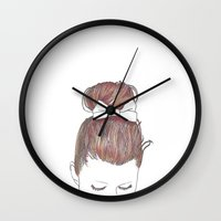dot Wall Clocks featuring Dot by Miyuki Sakurai