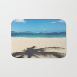 The good kind of shade - chillaxing on the beach in Hawaii Bath Mat