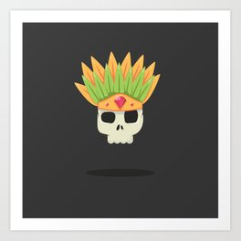 Aztec Warrior Art Print