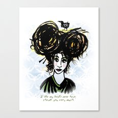 Bird's Nest Hair Canvas Print