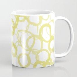 Watercolor Circle Ochre Coffee Mug