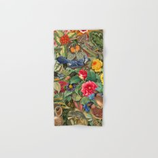 Birds Insects Plants Hand & Bath Towel