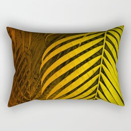 TROPICAL LEAVES GREEN MOCCA no1 Rectangular Pillow
