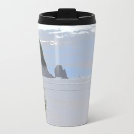 Illustrated Haystack Rock Travel Mug