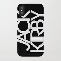 Classic : Jack Kirby Black  Slim Case iPhone X