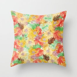 Tropical Leaves #02 Throw Pillow