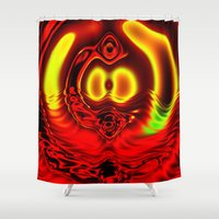 scuba Shower Curtains featuring Scuba by otorography