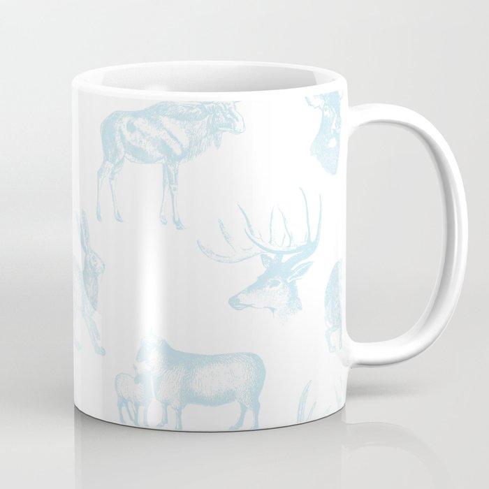 Woodland Critters in Winter Blue Coffee Mug