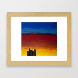 City Morning Framed Art Print