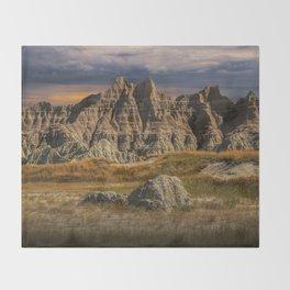 Badlands National Park Throw Blanket