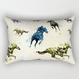 Horse Race Rectangular Pillow