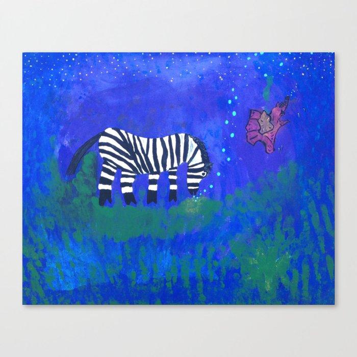 zebra dreams Canvas Print