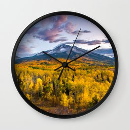 Chasing The Gold Wall Clock