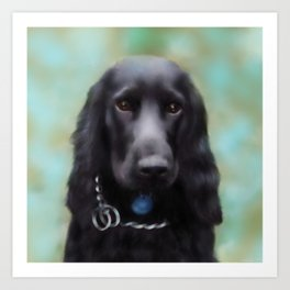 Cocker Spaniel Digital Painting Art Print