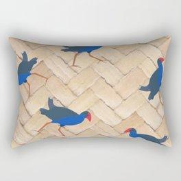 Pukeko Birds on Flax Weave Rectangular Pillow