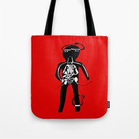 body Tote Bags featuring body by sandra sisofo