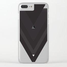 Black Triangles Clear iPhone Case