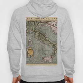 Map Of Italy 1540 Hoody