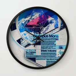 Olympus Mons - Exploration #3 Wall Clock