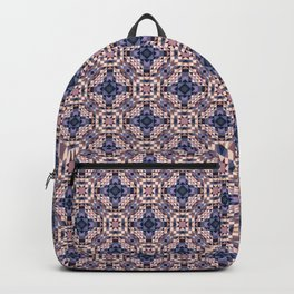 CASTLE warm beige earth tone with periwinkle blue details Backpack