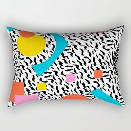 Get Real - memphis abstract pattern retro 80s design minimalist gifts colorful 1980's trend Rectangular Pillow