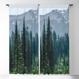 Mount Rainier Adventure III - Pacific Northwest Mountain Forest Wanderlust Blackout Curtain