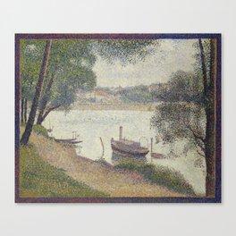 Gray weather, Grande Jatte Canvas Print