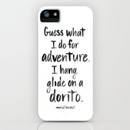 Hang Glide on a Dorito iPhone Case